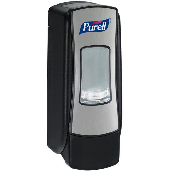 Purell® 8728-06 ADX-7 Brushed Chrome / Black 700 mL Dispenser