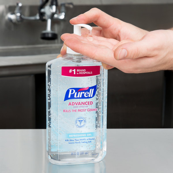 Purell® 3023-12 Advanced 20 oz. Gel Instant Hand Sanitizer - 12/Case Main Image 3