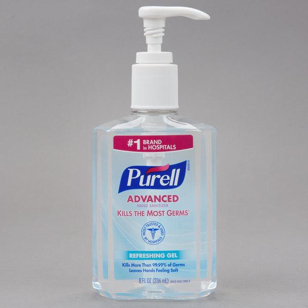 Purell® 9652-12 Advanced 8 oz. Gel Instant Hand Sanitizer - 12/Case