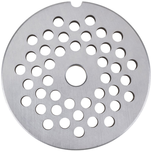 Avantco MG2246 #22 Stainless Steel Grinder Plate for MG22 Meat Grinder - 1/4""