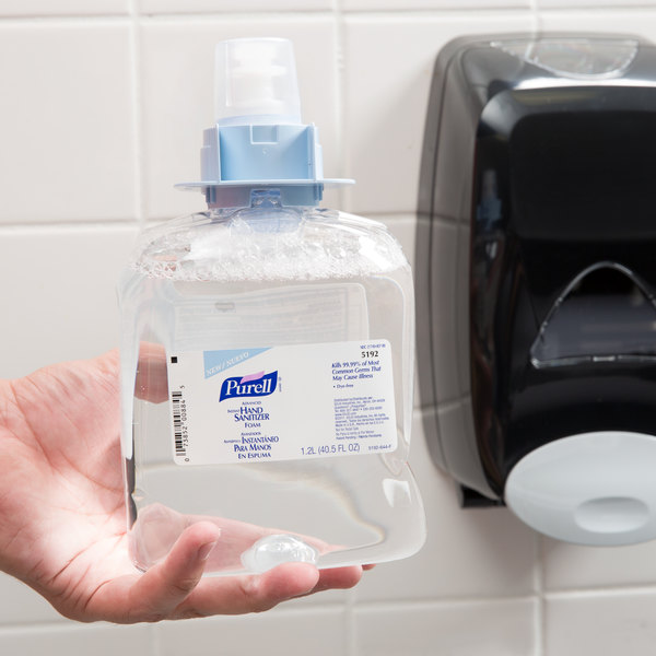 Purell® 5192-03 FMX Advanced 1200 mL Foaming Instant Hand Sanitizer - 3/Case