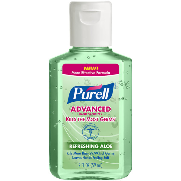 Purell® 9682-24 Advanced with Aloe 2 oz. Gel Instant Hand Sanitizer - 24/Case