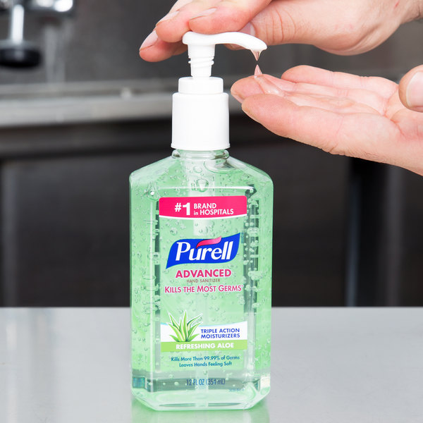 Purell® 3639-12 Advanced with Aloe 12 oz  Gel Instant Hand Sanitizer -  12/Case