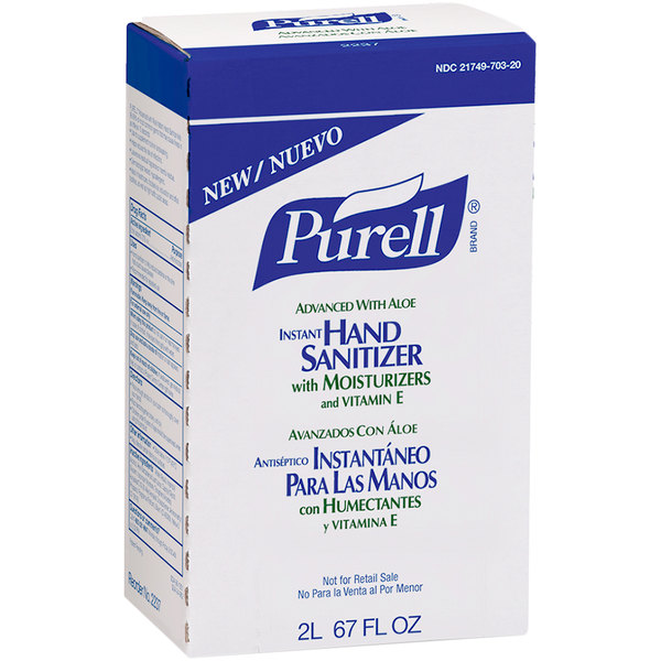 Purell® 2237-04 NXT Advanced with Aloe 2000 mL Gel Instant Hand Sanitizer - 4/Case