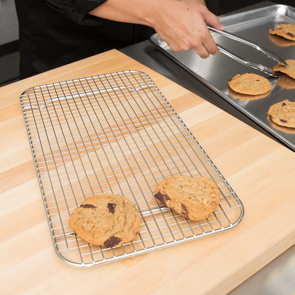Vollrath 20028 Super Pan V Full Size Stainless Steel Wire Cooling Rack / Pan Grate for Steam Table Pan Main Image 3