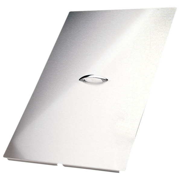 """Pitco B2101511-C 25 7/16"""" x 23 15/16"""" Stainless Steel Fryer Cover Main Image 1"""