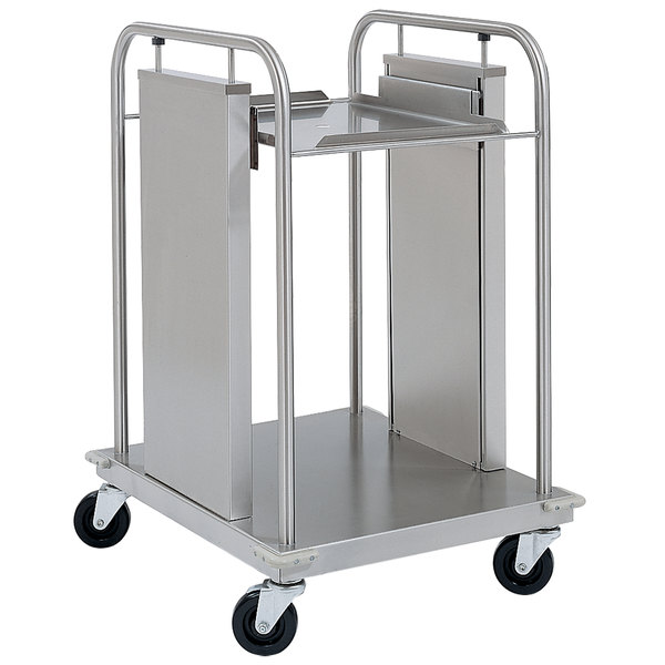 "Delfield TT-1221 Mobile Open Frame One Stack Tray Dispenser for 12"" x 21"" Food Trays"