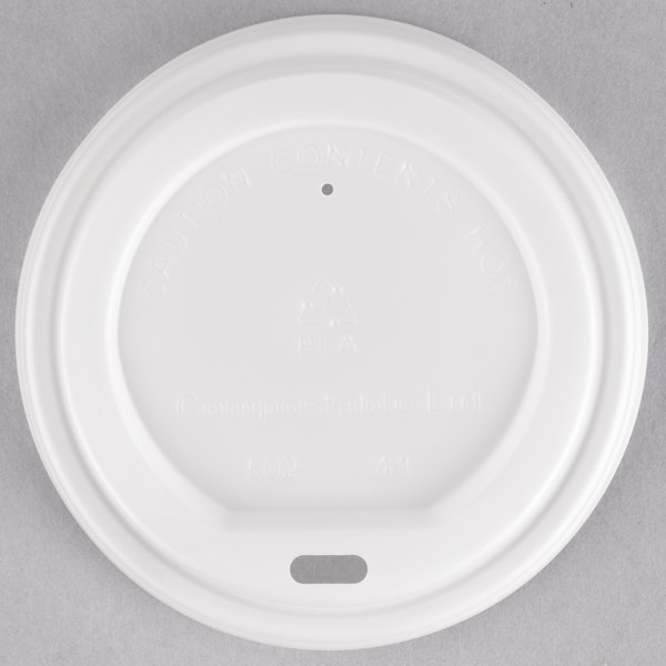 EcoChoice 8-20 oz. Translucent Compostable Paper Hot Cup Lid  - 1000/Case