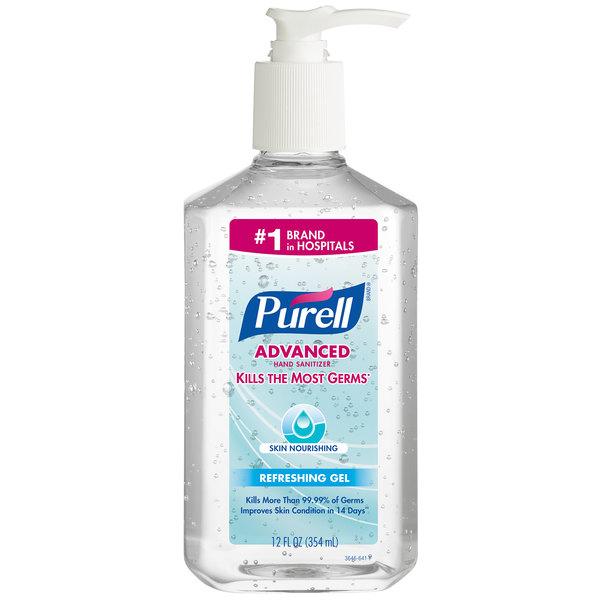 Purell® 3646-12 Advanced Skin Nourishing 12 oz. Gel Instant Hand Sanitizer - 12/Case