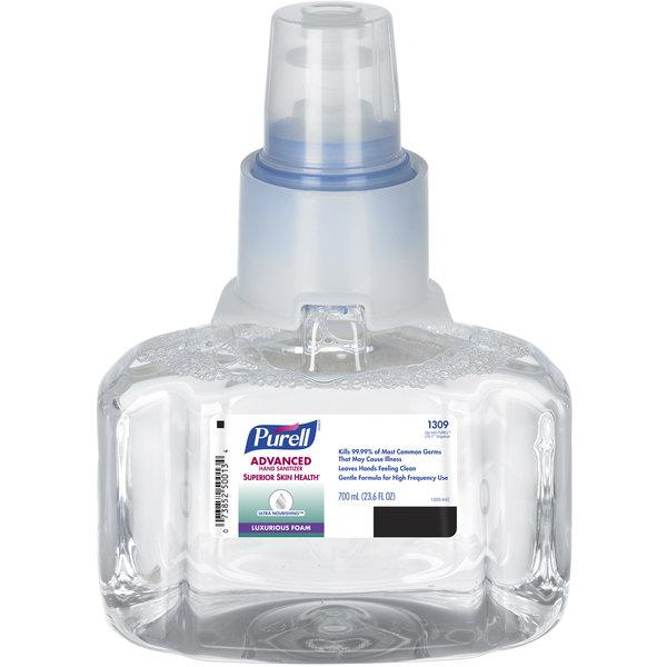 Purell® 1309-03 LTX Advanced 700 mL Foaming Ultra Nourishing Hand Sanitizer - 3/Case