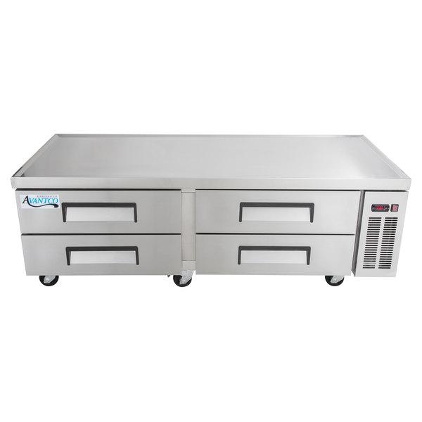 "Avantco CBE-72 72"" 4 Drawer Refrigerated Chef Base"