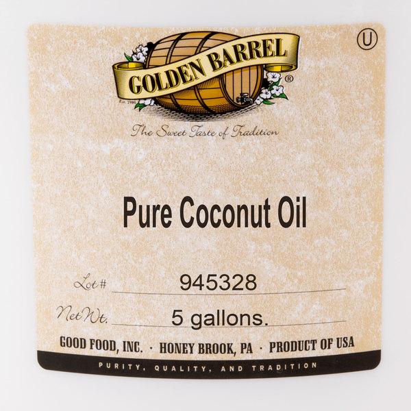Golden Barrel 5 Gallon (38 lb ) Coconut Oil