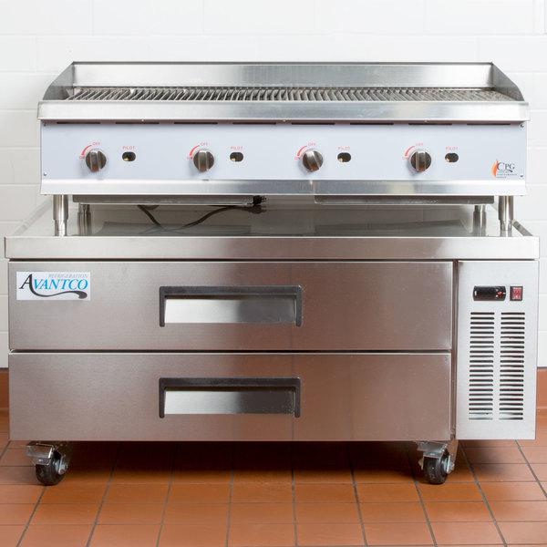 "Avantco CBE-52 52"" 2 Drawer Refrigerated Chef Base"