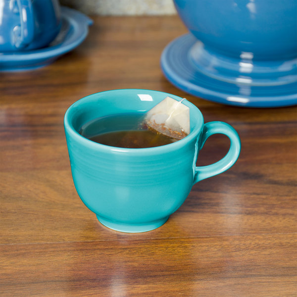 Fiesta Tableware from Steelite International HL452107 Turquoise 7.75 oz. China Cup - 12/Case Main Image 3