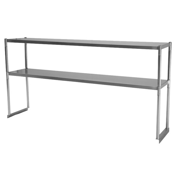 "Turbo Air TSOS-4R Stainless Steel Double Overshelf - 48"" x 11 1/8"""