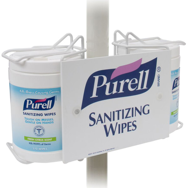Purell 174 9002 01 Sanitizing Wipes Double Canister Pole