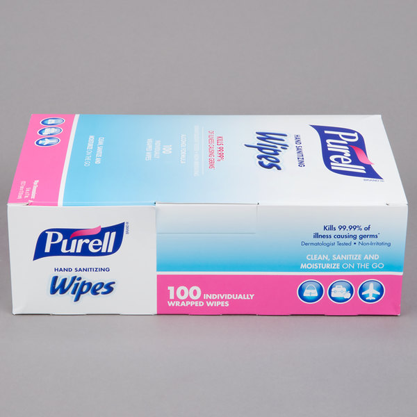Purell® 9022-10 Hand Sanitizing Wipes 100 Count Box - 10/Case
