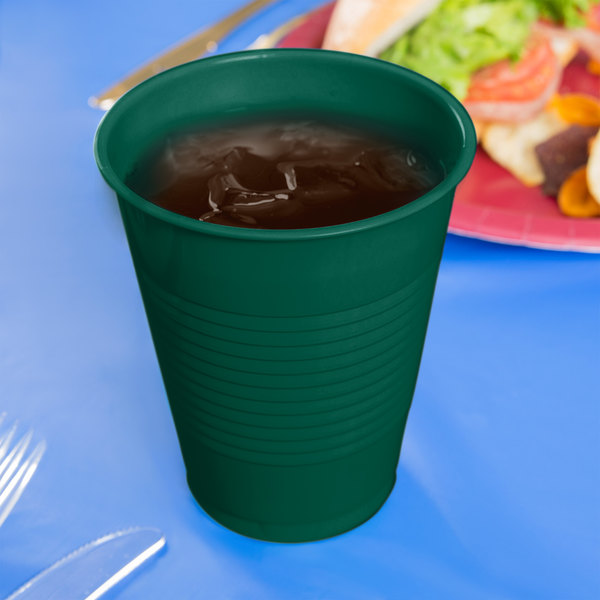 Creative Converting 28312481 16 oz. Hunter Green Plastic Cup - 240/Case