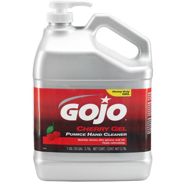 GOJO® 2358-02 1 Gallon Cherry Gel Pumice Hand Cleaner - 2/Case