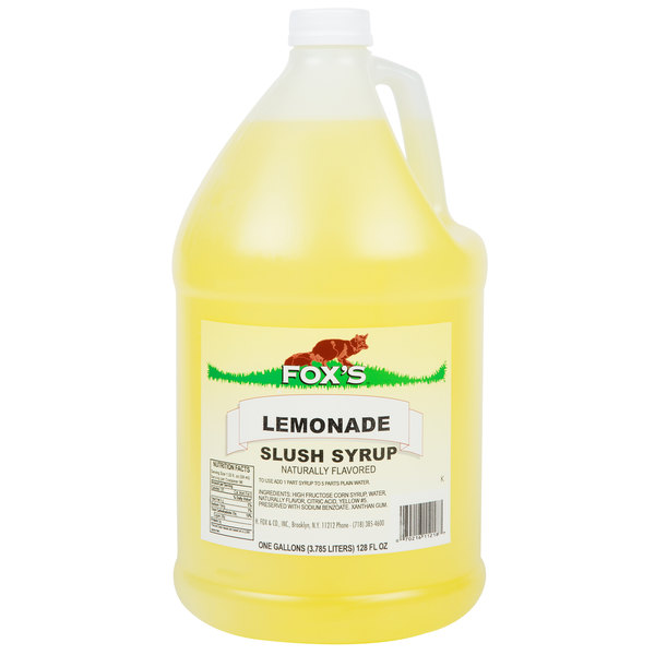 Fox's 1 Gallon Lemonade Slush Syrup