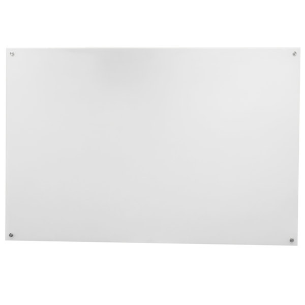 """Aarco WGB3648NT 36"""" x 48"""" White Pure Glass Markerboard"""
