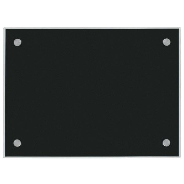 "Aarco BKGB2436NT 24"" x 36"" Black Pure Glass Markerboard"