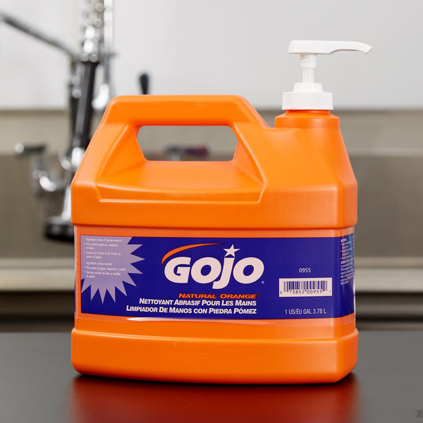 GOJO® 0955-02 1 Gallon Natural Orange Pumice Hand Cleaner - 2/Case