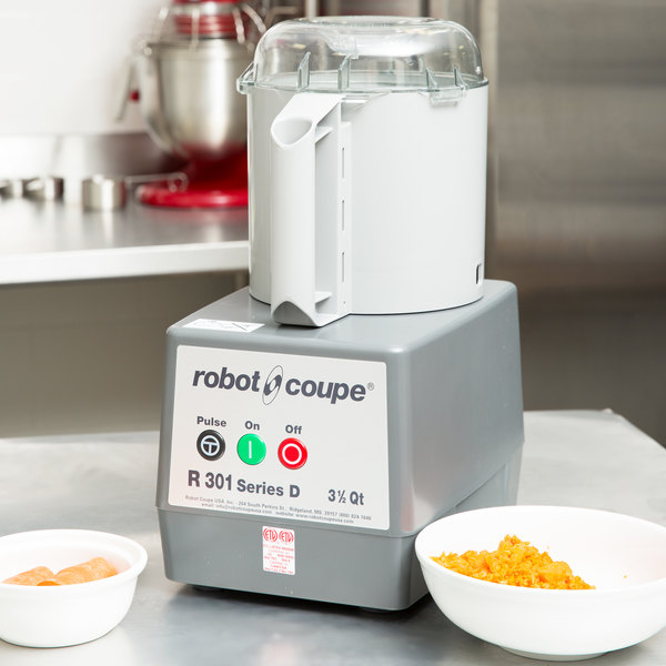 Robot Coupe R301B 3.5 Qt. Gray Batch Bowl Food Processor - 1 1/2 hp Main Image 16