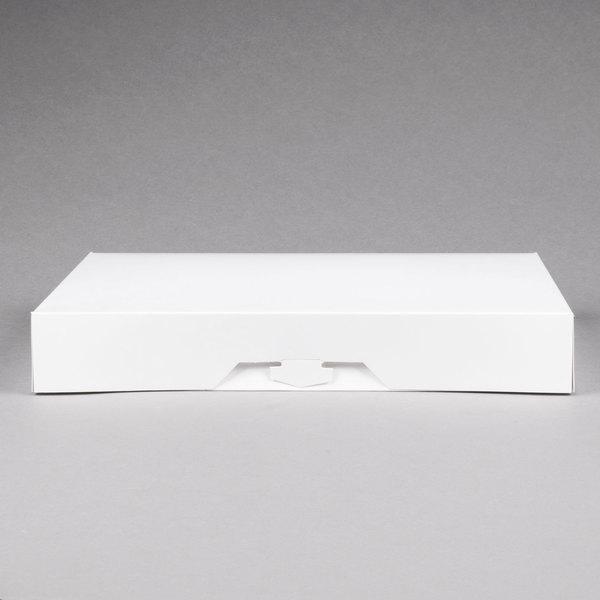 "100-3 x 18 x 4 1//2/"" Open Top Bin Box White Corrugated One Piece Construction"