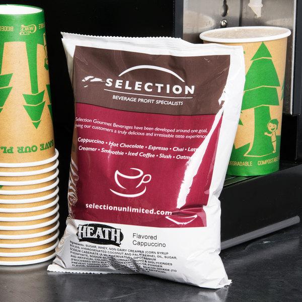 2 lb. Heath Flavored Cappuccino Mix - 5/Case