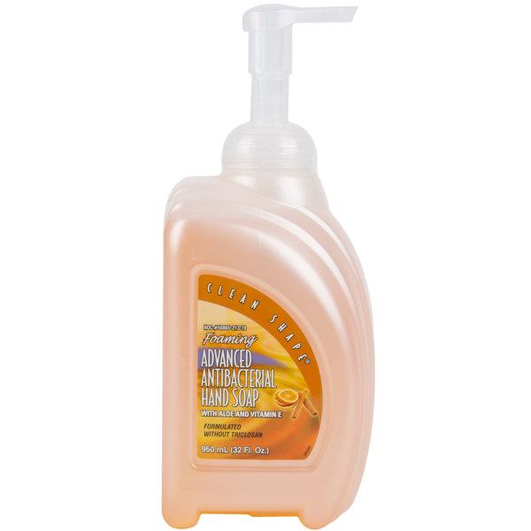 Kutol 21378 950 mL Foaming Advanced Antibacterial Hand Soap Clean Shape Bottle  - 8/Case