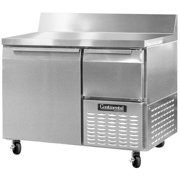 "Continental Refrigerator CFA43-BS 43"" Extra-Deep Worktop Freezer with Backsplash - 12 cu. ft."