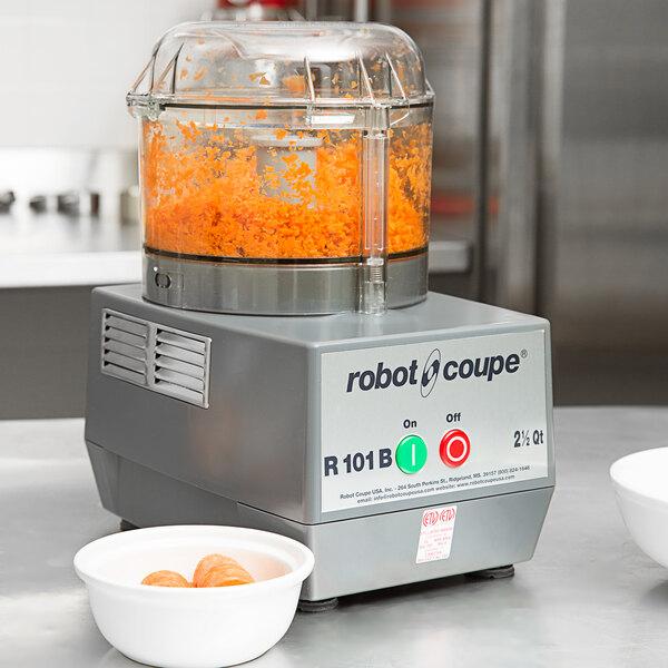 Robot Coupe R101BCLR 2.5 Qt. Clear Batch Bowl Food Processor - 3/4 hp Main Image 5