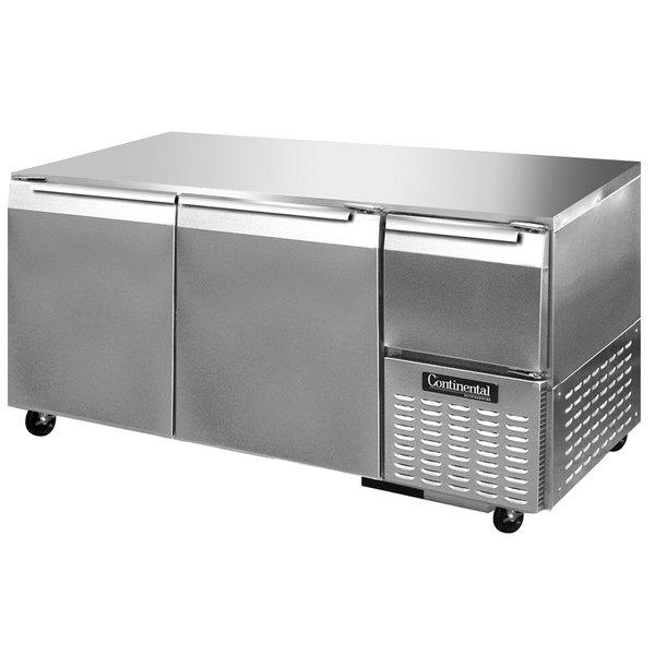 "Continental Refrigerator CFA68-U 68"" Low Profile Undercounter Freezer - 22 Cu. Ft."