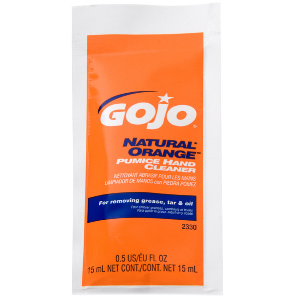 GOJO® 2330-01 0.5 oz. Natural Orange Pumice Hand Cleaner - 40/Case Main Image 1