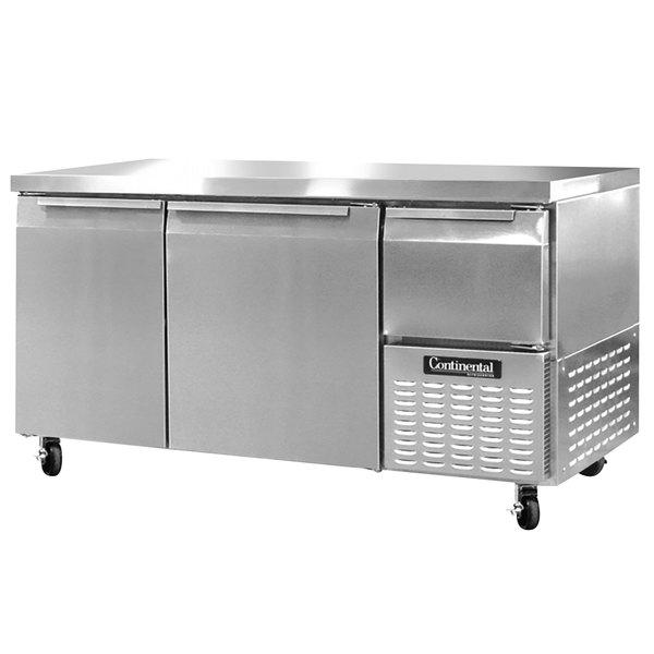 "Continental Refrigerator RA60N 60"" Extra-Deep Undercounter Refrigerator - 19 Cu. Ft."