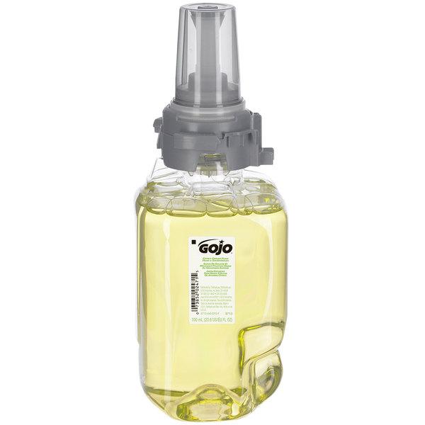 GOJO® 8713-04 ADX 700 mL Citrus Ginger Foam Hand & Showerwash - 4/Case
