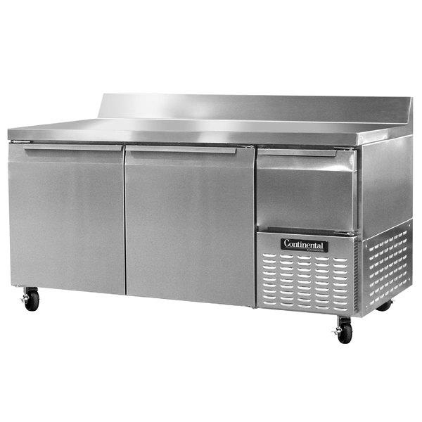 "Continental Refrigerator RA68NBS 68"" Extra-Deep Worktop Refrigerator with Backsplash - 22 cu. ft. Main Image 1"