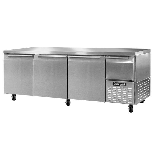 "Continental Refrigerator CRA93 93"" Extra-Deep Undercounter Refrigerator - 32 Cu. Ft."
