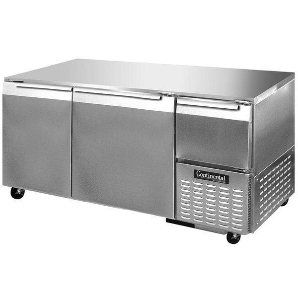 "Continental Refrigerator RA60N-U 60"" Low Profile Undercounter Refrigerator - 19 Cu. Ft."