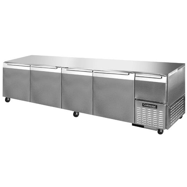 "Continental Refrigerator CRA118-U 118"" Low Profile Undercounter Refrigerator - 44 Cu. Ft."