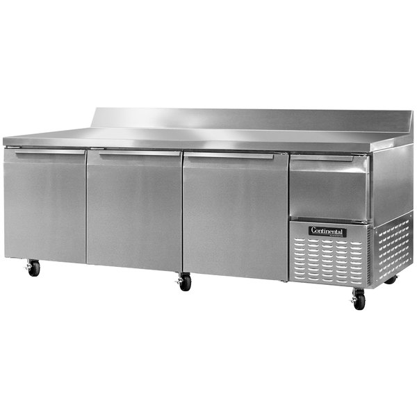 "Continental Refrigerator CRA93-BS 93"" Extra-Deep Worktop Refrigerator with Backsplash - 32 cu. ft."