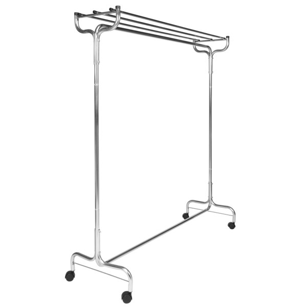 """CSL 1075-60 60"""" Portable Valet Single Coat / Hat Rack with Casters Main Image 1"""