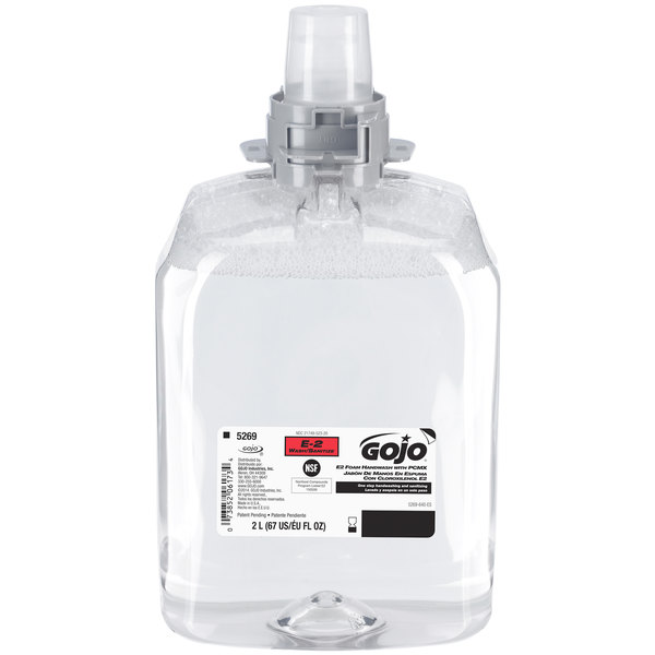 GOJO® 5269-02 FMX-20 E2 2000 mL Fragrance Free Foaming Hand Soap with PCMX - 2/Case Main Image 1