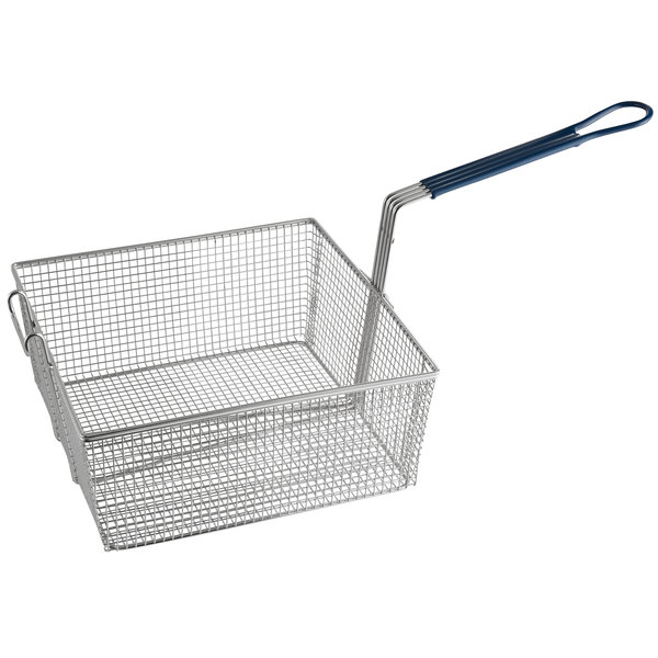 "Pitco P6072143 13 1/4"" x 13 1/2"" x 5 3/4"" Full Size Fryer Basket with Front Hook"
