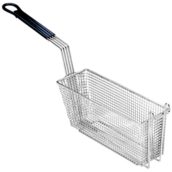 """Pitco P6072147 13 1/4"""" x 4 1/2"""" x 5 3/4"""" Triple Size Fryer Basket with Front Hook"""