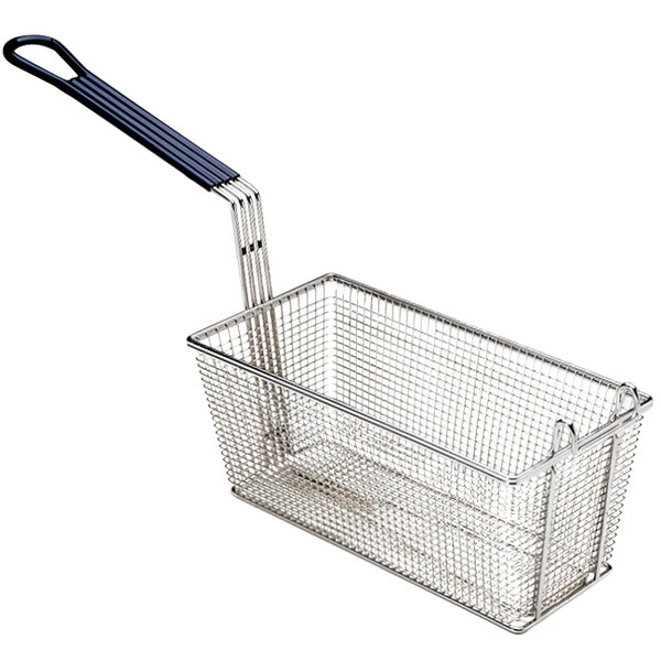 """Pitco A4514702 MegaFry 23 1/4"""" x 10"""" x 5 3/4"""" Full Size Large Fryer Basket with Front / Back Hook"""