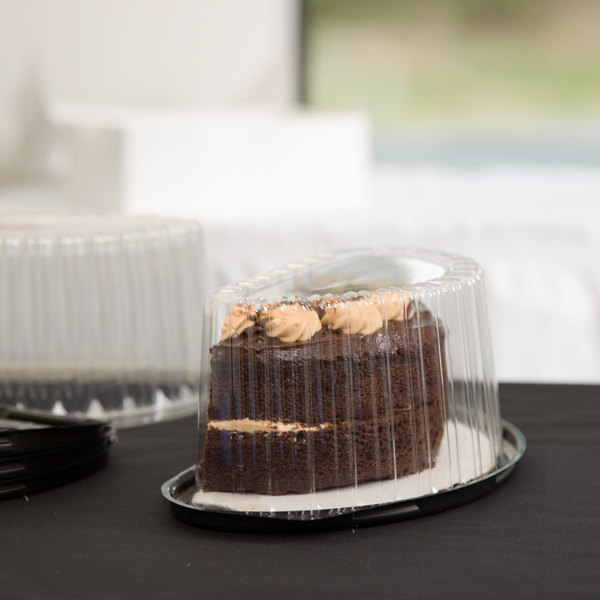 """Polar Pak 07446 8"""" Half Cake Container with Dome Lid - 10/Pack"""