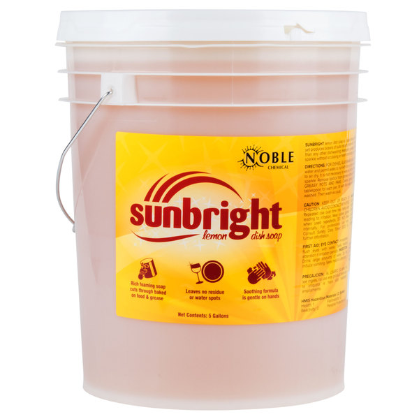 Noble Chemical Sunbright 5 Gallon Liquid Dish Soap