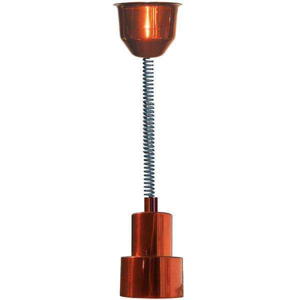 Hanson Heat Lamps 200-RET-SC Retractable Cord Ceiling Mount Heat Lamp with Smoked Copper Finish
